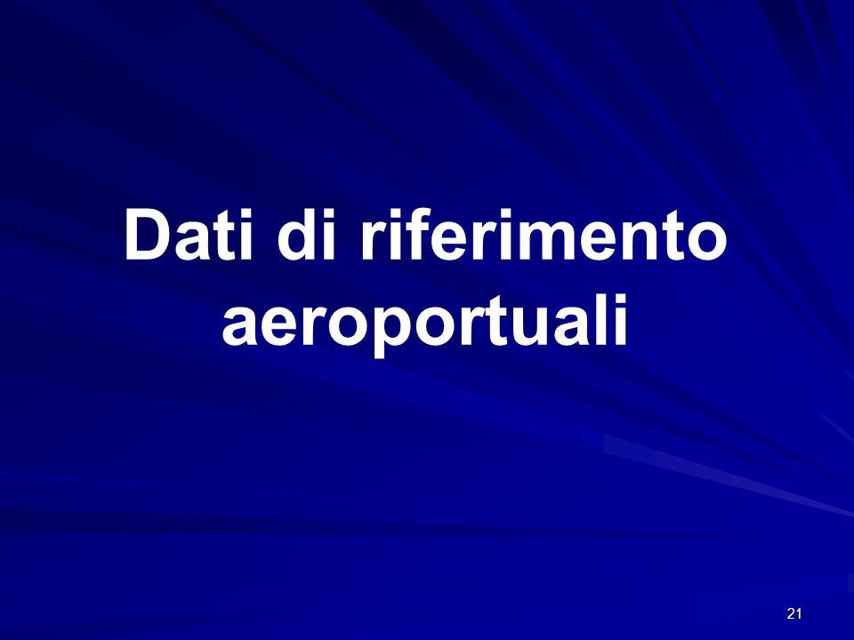 21 Dati di riferimento aeroportuali