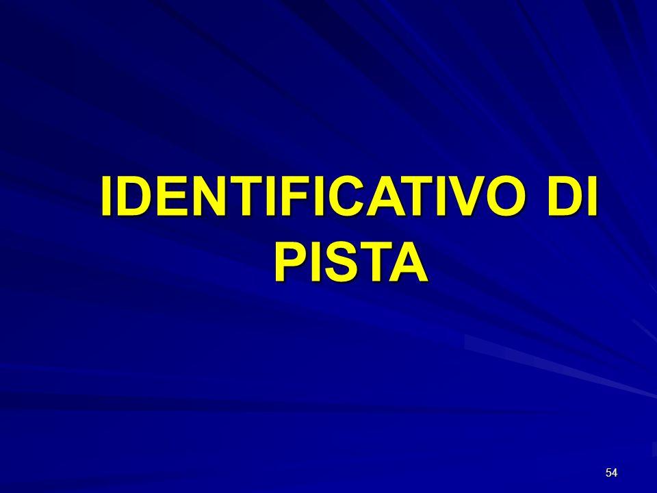 54 IDENTIFICATIVO DI PISTA