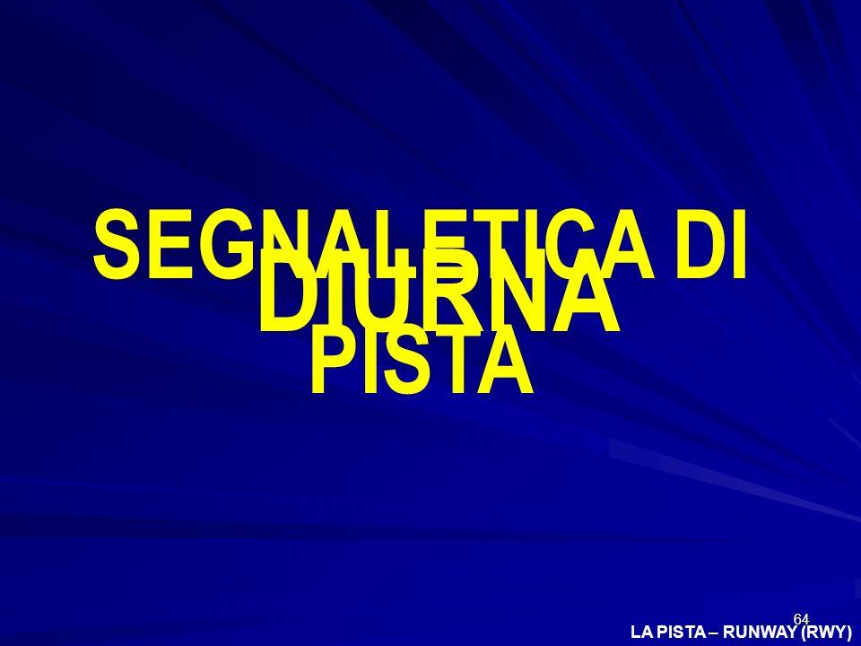 64 LA PISTA – RUNWAY (RWY) SEGNALETICA DI PISTA DIURNA