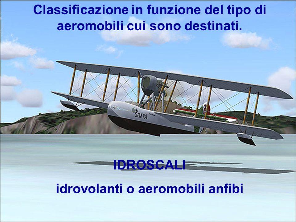 9 Classificazione in funzione del tipo di aeromobili cui sono destinati. IDROSCALI idrovolanti o aeromobili anfibi