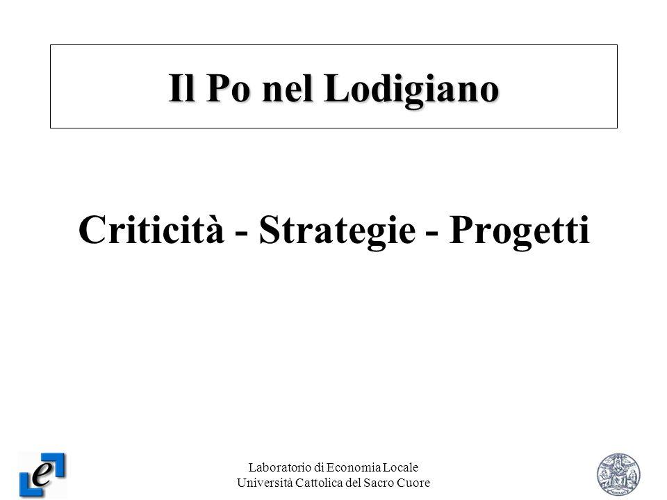 Laboratorio di Economia Locale Università Cattolica del Sacro Cuore 16 Criticità - Strategie - Progetti Il Po nel Lodigiano