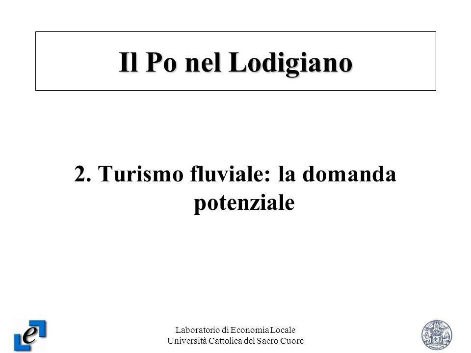 Laboratorio di Economia Locale Università Cattolica del Sacro Cuore 8 2. Turismo fluviale: la domanda potenziale Il Po nel Lodigiano