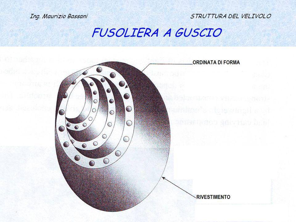 Ing. Maurizio Bassani STRUTTURA DEL VELIVOLO FUSOLIERA A GUSCIO