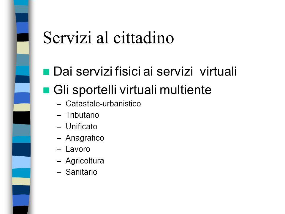 Obiettivi La messa in rete degli uffici La standardizzazione delle procedure Semplificare e migliorare i servizi pubblici ai cittadini ed alle impreseAumentare le conoscenze informatiche dei funzionari
