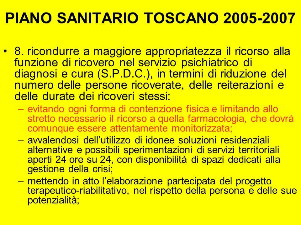 PIANO SANITARIO TOSCANO 2005-2007 8.