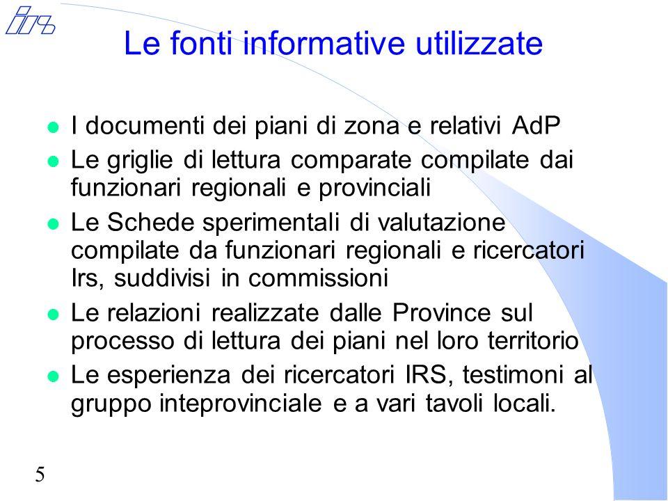 6 Prima parte I documenti di piano e la loro conformità con le linee guida regionali