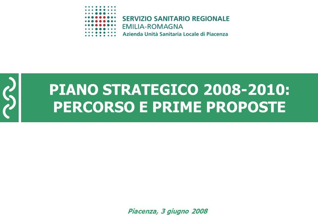 Piano Strategico 2008-2010 pagina 1 PIANO STRATEGICO 2008-2010: PERCORSO E PRIME PROPOSTE Piacenza, 3 giugno 2008