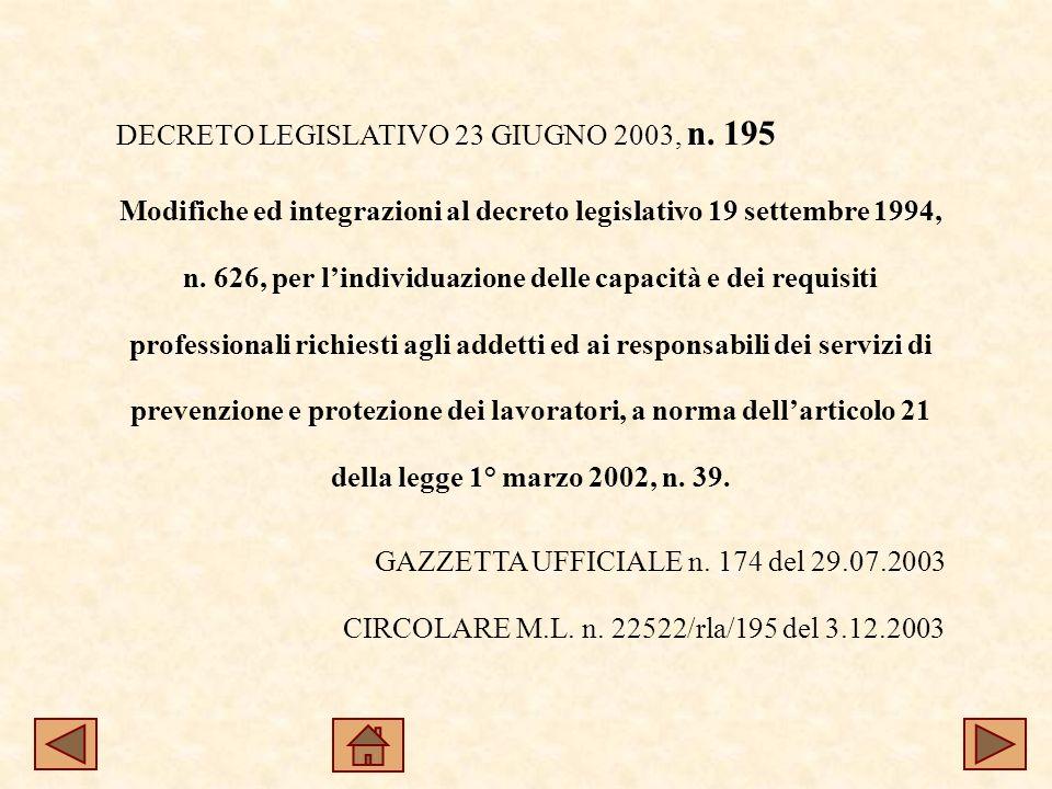 DECRETO LEGISLATIVO 23 GIUGNO 2003, n.
