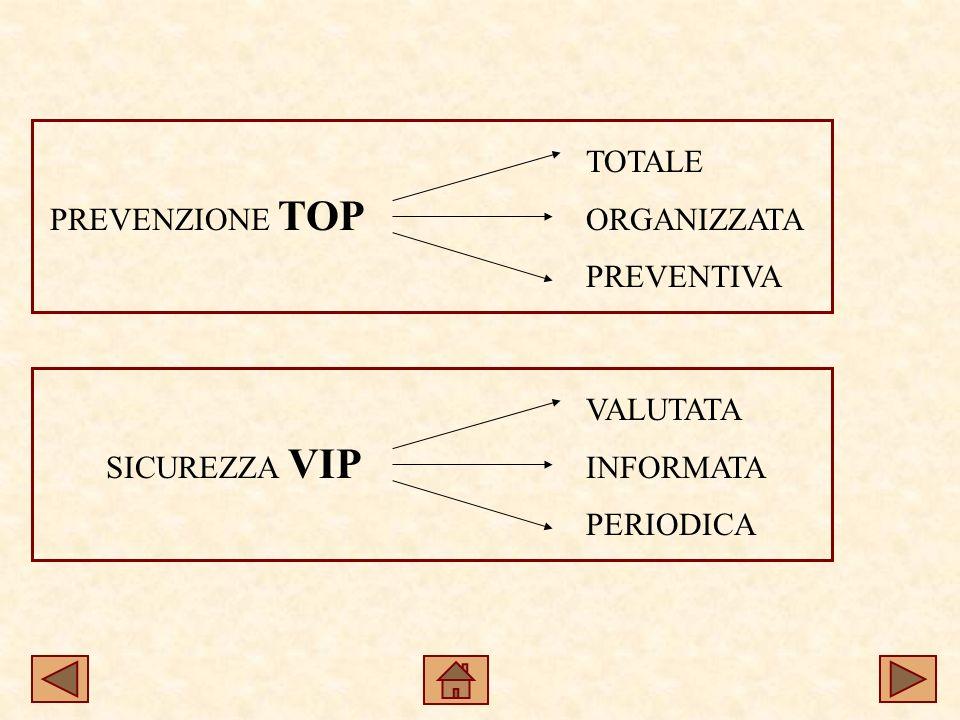 PREVENZIONE TOP SICUREZZA VIP TOTALE ORGANIZZATA PREVENTIVA VALUTATA INFORMATA PERIODICA