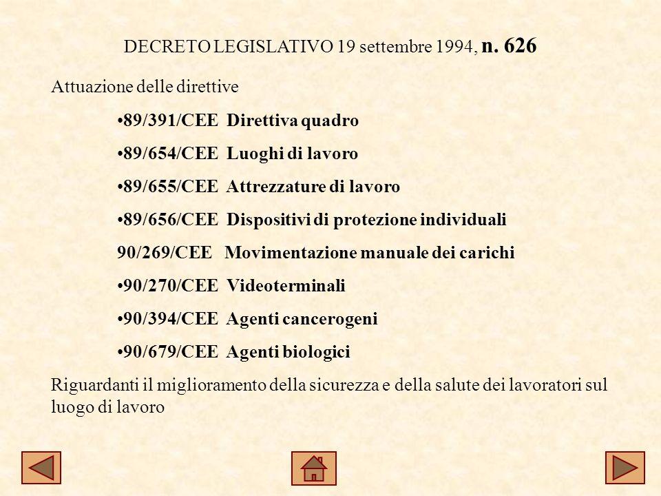 DECRETO LEGISLATIVO 19 settembre 1994, n.