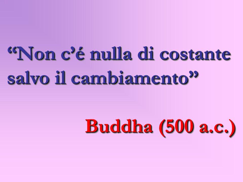 Non cé nulla di costante salvo il cambiamento Buddha (500 a.c.) Buddha (500 a.c.) Non cé nulla di costante salvo il cambiamento Buddha (500 a.c.) Budd