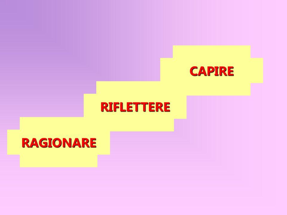 RAGIONARE RIFLETTERE CAPIRE