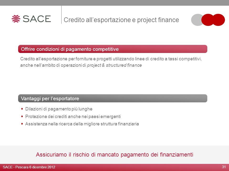 31 Dilazioni di pagamento più lunghe Protezione dei crediti anche nei paesi emergenti Assistenza nella ricerca della migliore struttura finanziaria Va