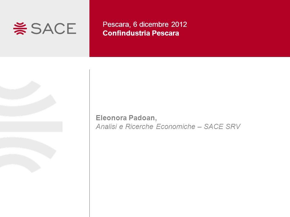 Pescara, 6 dicembre 2012 Confindustria Pescara Eleonora Padoan, Analisi e Ricerche Economiche – SACE SRV