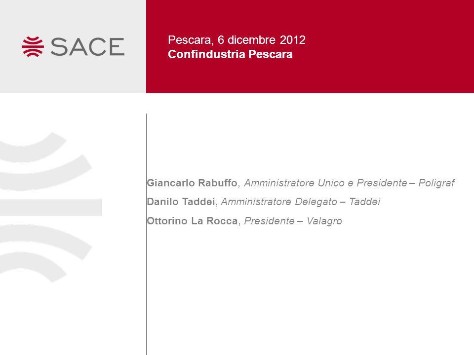 Pescara, 6 dicembre 2012 Confindustria Pescara Giancarlo Rabuffo, Amministratore Unico e Presidente – Poligraf Danilo Taddei, Amministratore Delegato