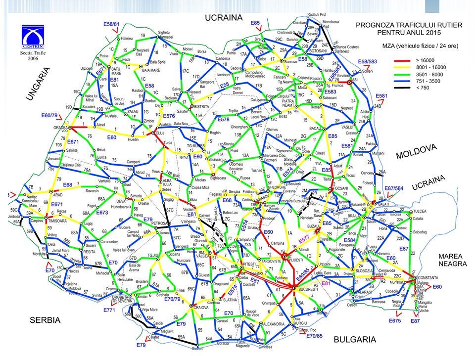By-pass Bucuresti Nord Lunghezza: 53 km By-pass Bucuresti Sud Lunghezza: 48 km Ploiesti-Comarnic Lunghezza: 48 km Ploiesti-Buzau-Focsani Lunghezza: 133,00 km Focsani-Albita Lunghezza: 155 km Sibiu – Pitesti Lunghezza: 116,64 km Tg Mures-Iasi-Ungheni Lunghezza: 311,66km Lunghezza: 920 km Comarnic - Brasov Lunghezza: 55 km Autostrade e tangenziali con profilo di autostrada – comprese nel programma di PPP/ Concessione per il finanziamento dellesecuzione