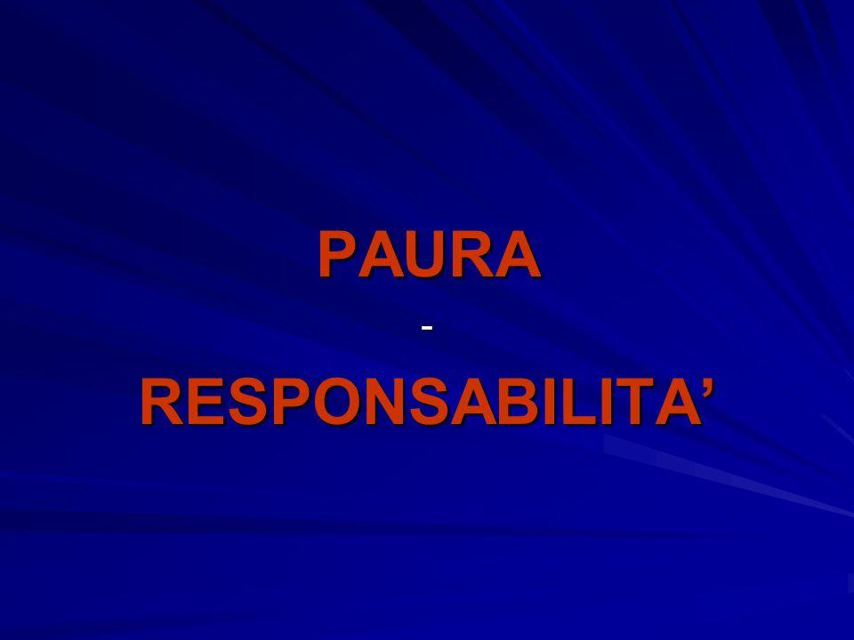 PAURA-RESPONSABILITA
