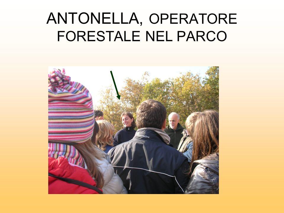 ANTONELLA, OPERATORE FORESTALE NEL PARCO