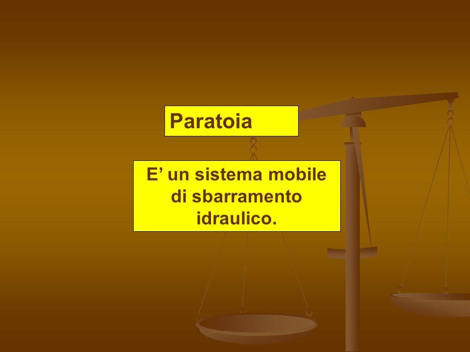 Paratoia E un sistema mobile di sbarramento idraulico.