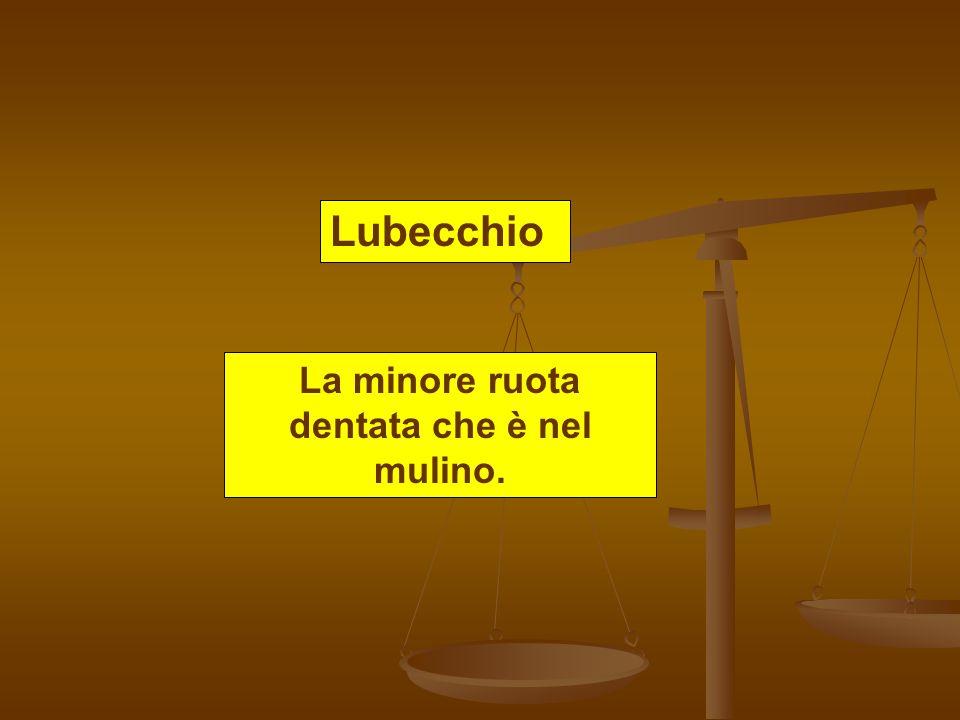 Lubecchio La minore ruota dentata che è nel mulino.