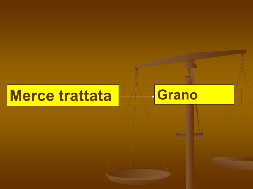 Merce trattata Grano