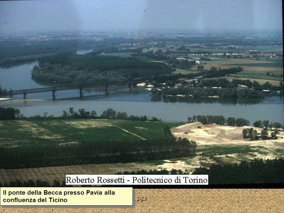 2-23 Il ponte della Becca presso Pavia alla confluenza del Ticino