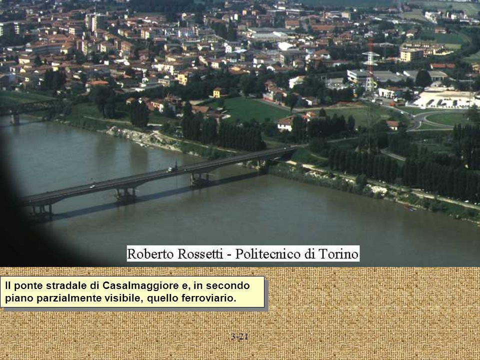 3-21 Il ponte stradale di Casalmaggiore e, in secondo piano parzialmente visibile, quello ferroviario.