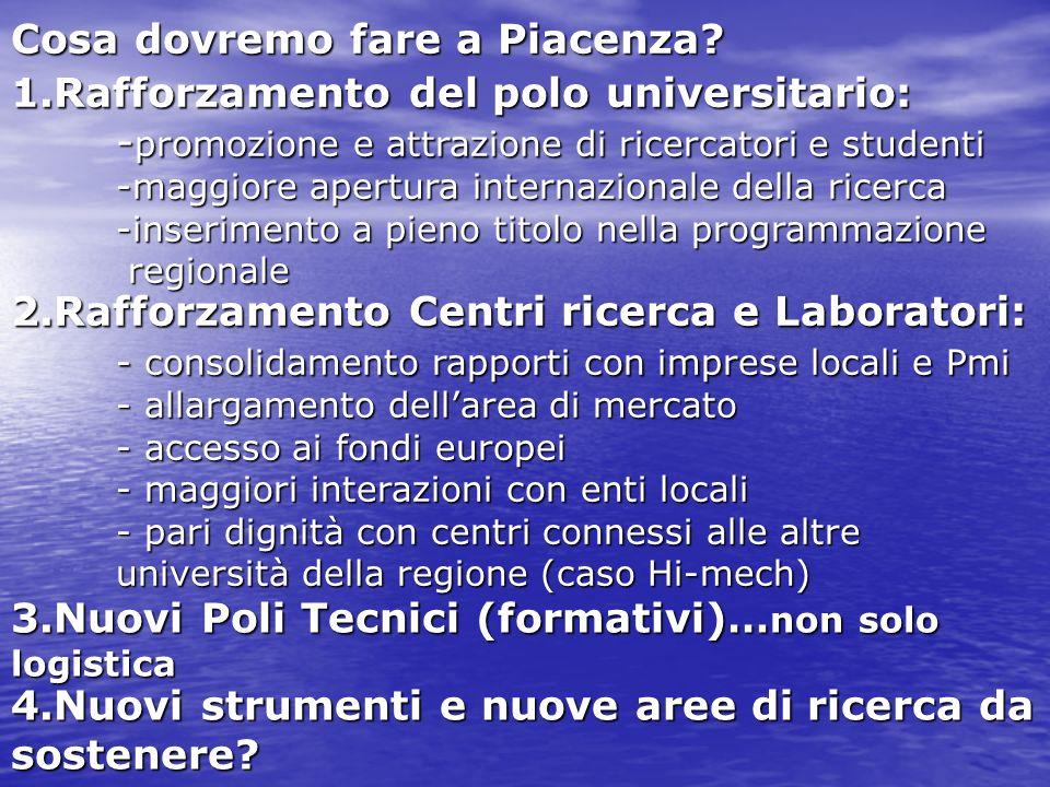 Cosa dovremo fare a Piacenza.