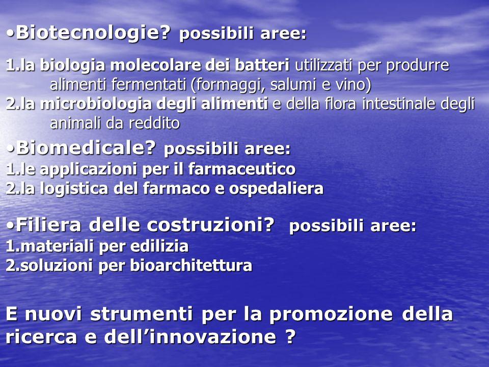 1.la biologia molecolare dei batteri utilizzati per produrre alimenti fermentati (formaggi, salumi e vino) Biotecnologie.