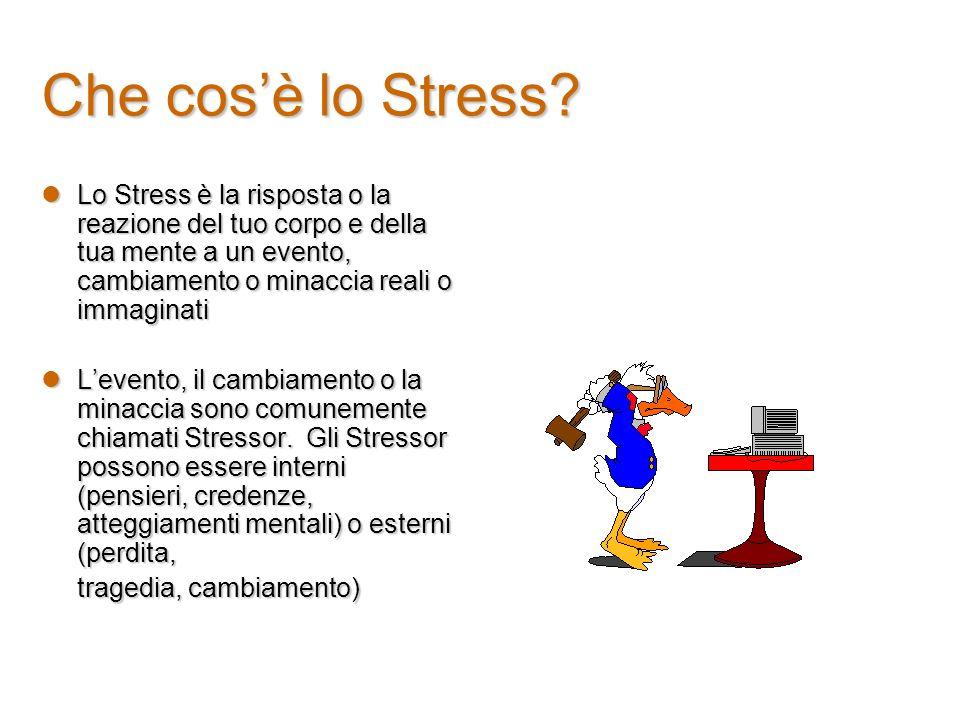 Strategie di controllo dello Stress Stare bene con se stessi è una buona base di partenza contro lo stress.