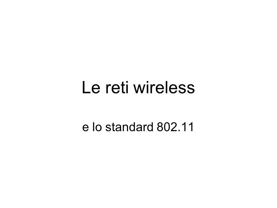 Le reti wireless e lo standard 802.11