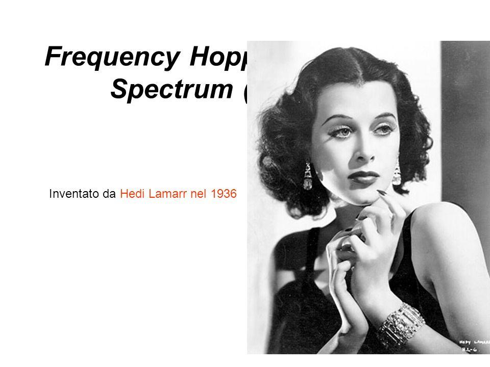 Frequency Hopping Spread Spectrum (FHSS) Inventato da Hedi Lamarr nel 1936