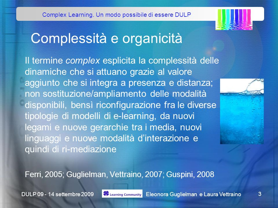 Complex Learning.