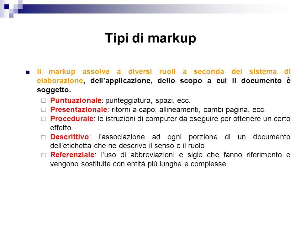 DTD – Per la definizione degli attributi di ciascun tag facciamo uso della dichiarazione.