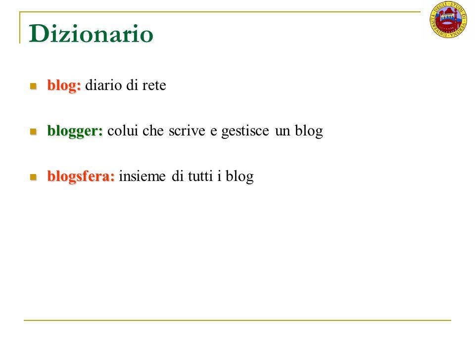 RSS nei blog Aggiornamenti relativi ai post Aggiornamenti relativi ai commenti Consentono di monitorare facilmente e rapidamente numerosi blog Utili per chi legge molti blog Indispensabili per i blogger