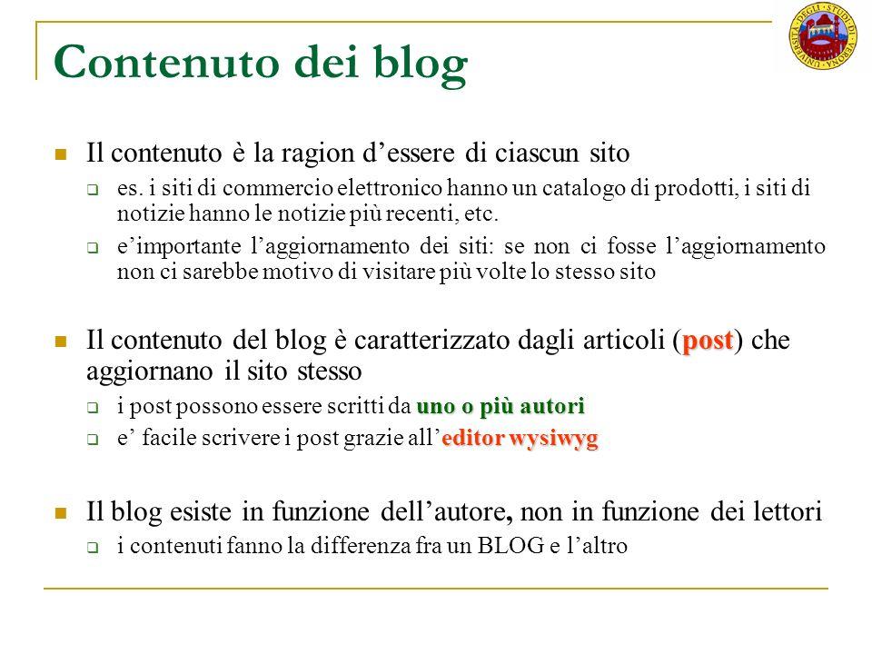 Riferimenti http://www.wordpress-it.it/wiki/Main/IntroBlog http://codex.wordpress.org/Introduction_to_Blogging