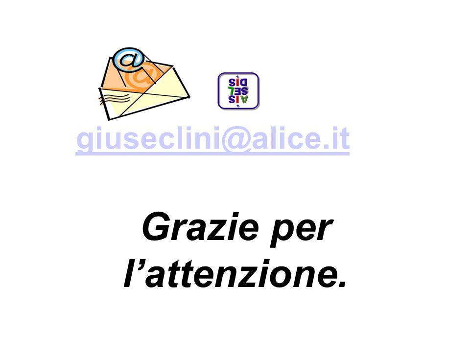 giuseclini@alice.it Grazie per lattenzione.