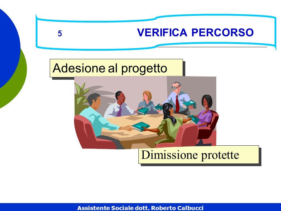 5 VERIFICA PERCORSO Dimissione protette Adesione al progetto Assistente Sociale dott.