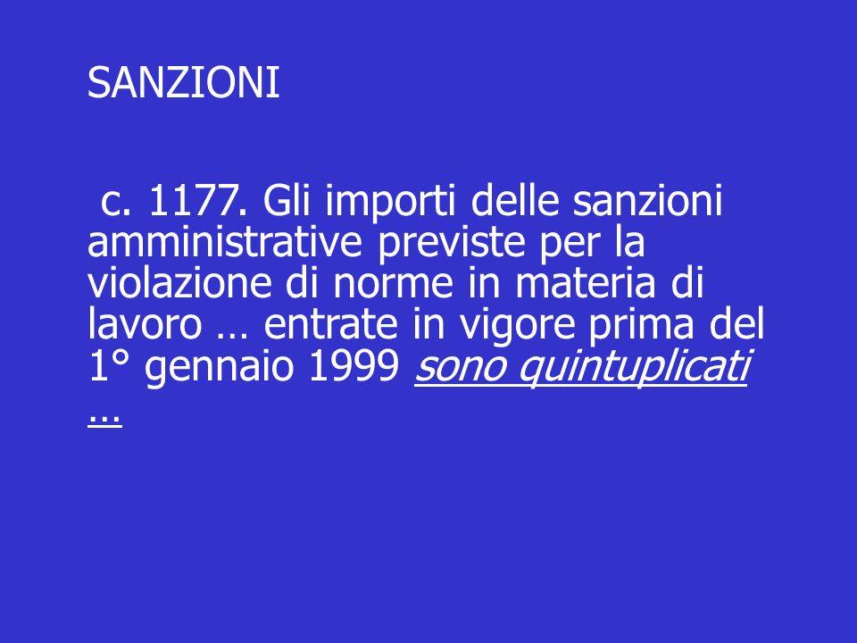 SANZIONI c. 1177.