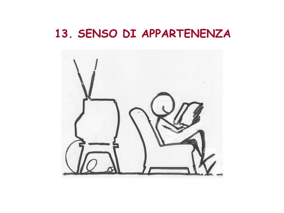 13. SENSO DI APPARTENENZA