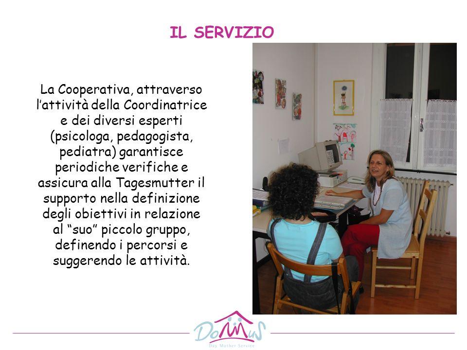 La Cooperativa, attraverso lattività della Coordinatrice e dei diversi esperti (psicologa, pedagogista, pediatra) garantisce periodiche verifiche e as