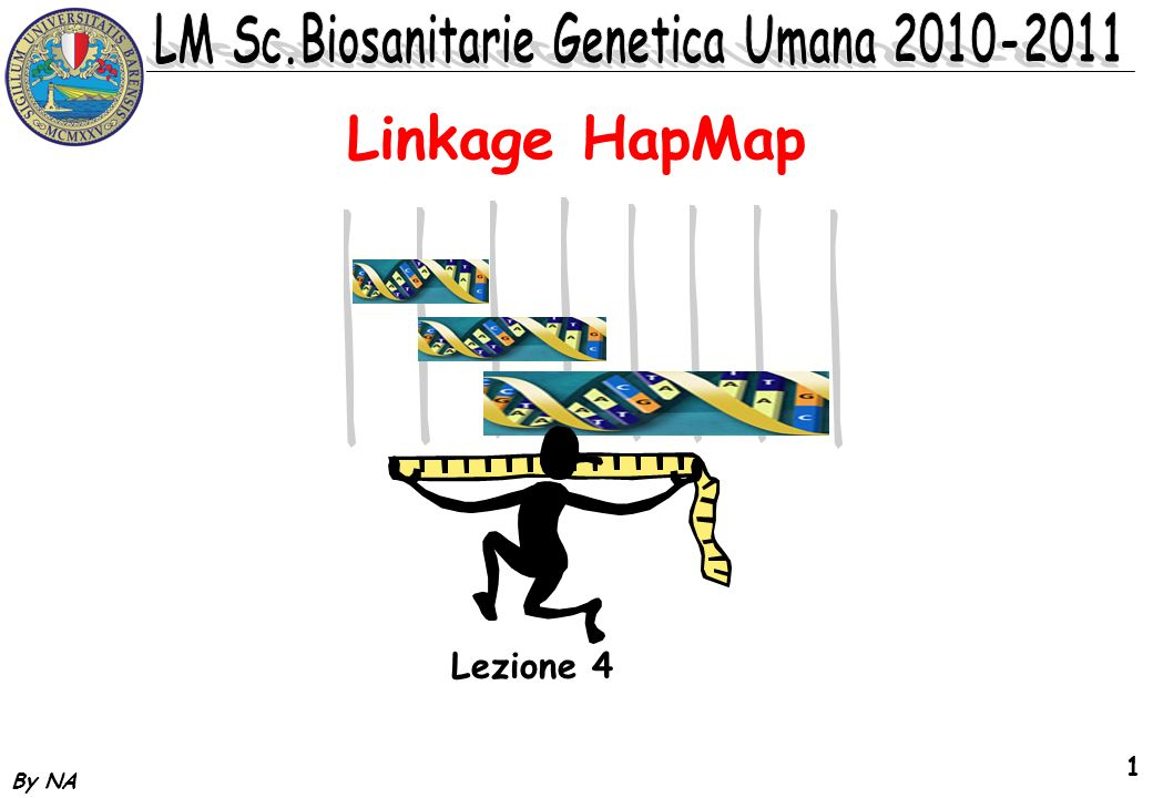By NA 1 Linkage HapMap Lezione 4