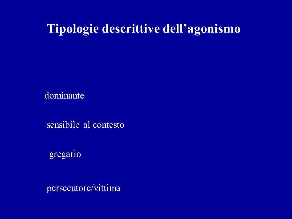 Tipologie descrittive dellagonismo dominante sensibile al contesto gregario persecutore/vittima