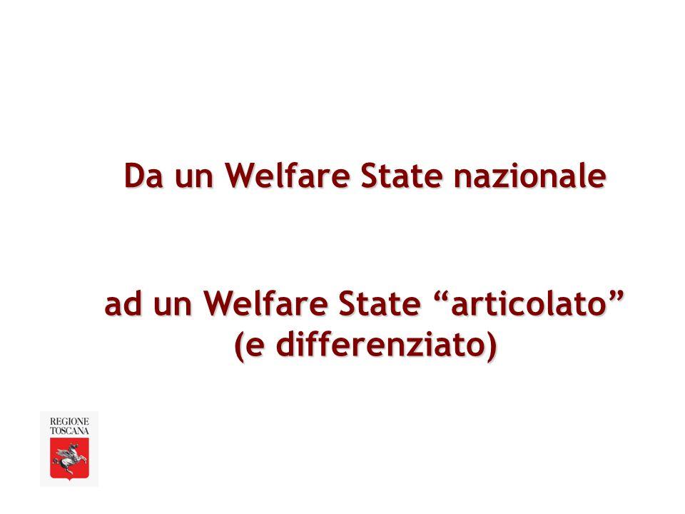 Da un Welfare State nazionale ad un Welfare State articolato (e differenziato)