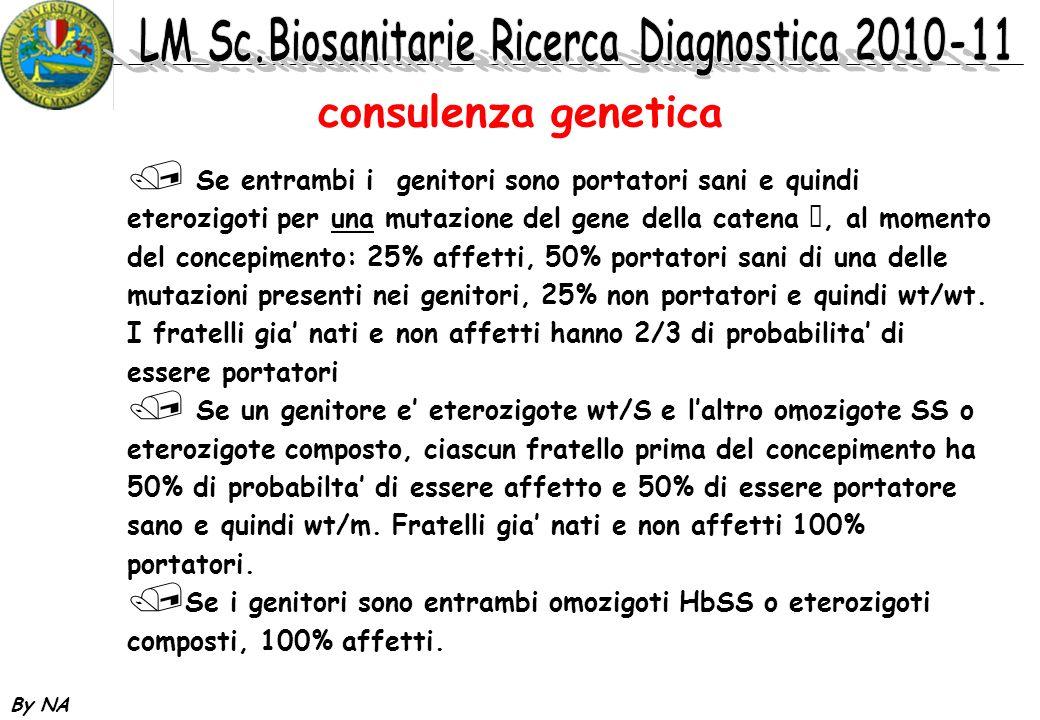 By NA consulenza genetica / Se entrambi i genitori sono portatori sani e quindi eterozigoti per una mutazione del gene della catena, al momento del co
