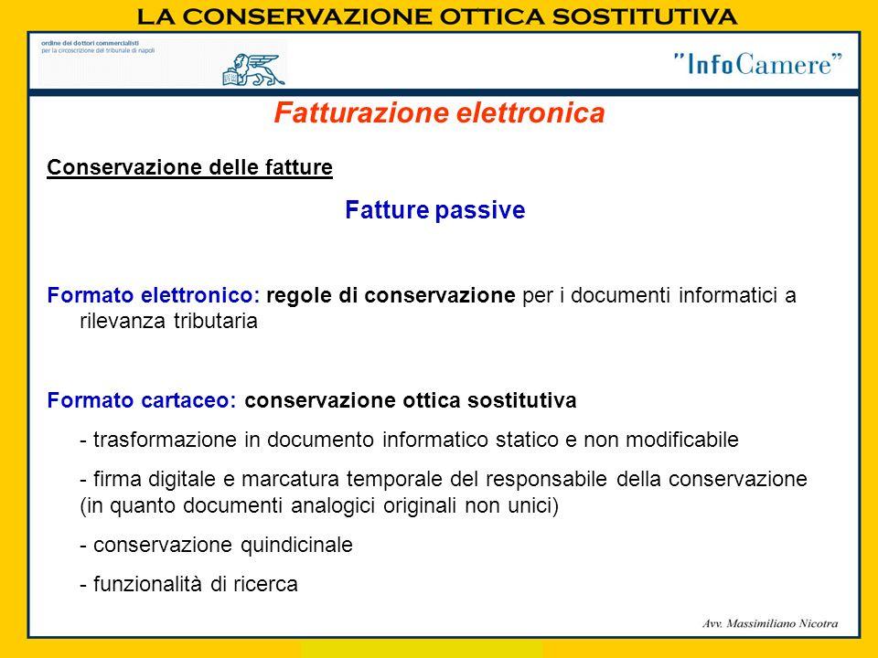 Fatturazione elettronica Conservazione delle fatture Fatture passive Formato elettronico: regole di conservazione per i documenti informatici a rileva