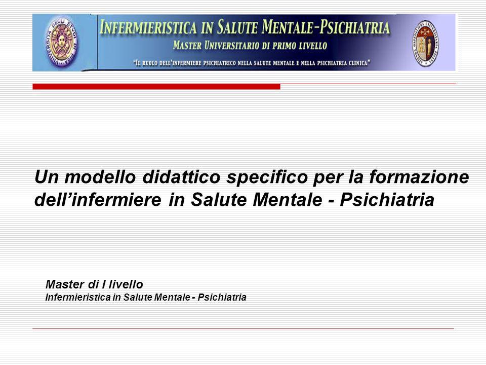 Un modello didattico specifico per la formazione dellinfermiere in Salute Mentale - Psichiatria Master di I livello Infermieristica in Salute Mentale