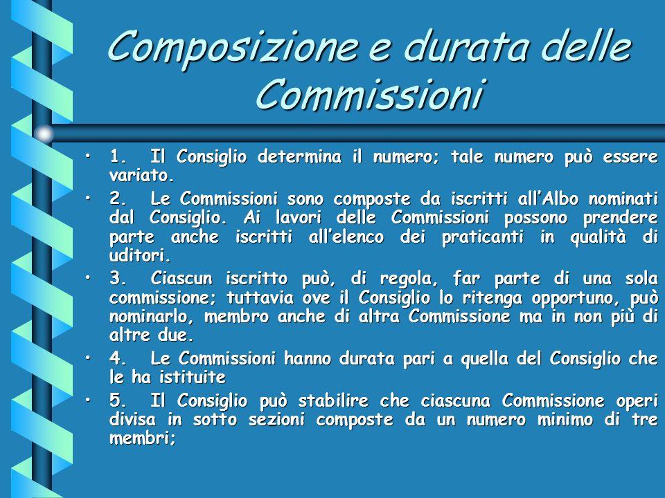 Presidente, Vicepresidente e Segretario 1.Il Consiglio nomina, su proposta del Delegato, il Presidente, il vice Presidente ed il Segretario della Commissione che devono essere membri della stessa.