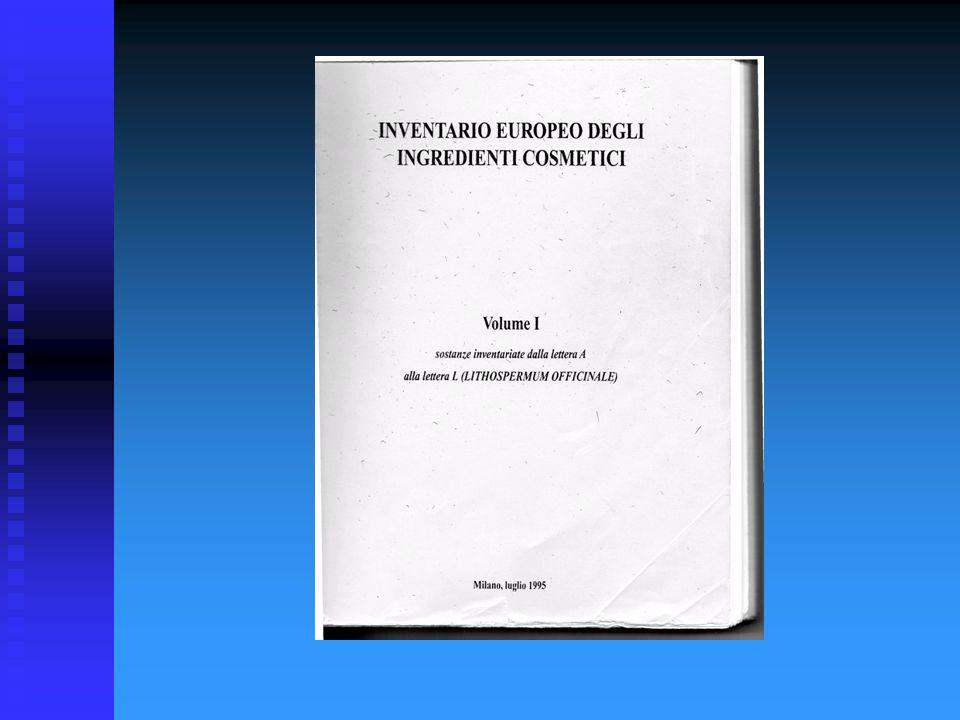 * DECISIONE DELLA COMMISSIONE del 9 febbraio 2006 che modifica la decisione 96/335/CE che istituisce l inventario e la nomenclatura comune degli ingredienti utilizzati nei prodotti cosmetici (Testo rilevante ai fini del SEE) (2006/257/CE) SIGLE E SIGNIFICATI (collegati al Dossier Cosmetico) INCI - International Nomenclature Cosmetic Ingredient (Europa) EINECS - European Inventory of Existing Commercial Chemical Substances (Europa) CAS - Chemical Abstracts Service PH.