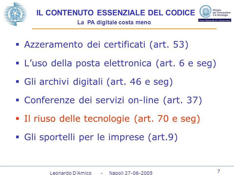 Leonardo DAmico - Napoli 27-06-2005 28 La risposta allavviso per il catalogo Lavviso per la realizzazione del catalogo è stato pubblicato in G.U.